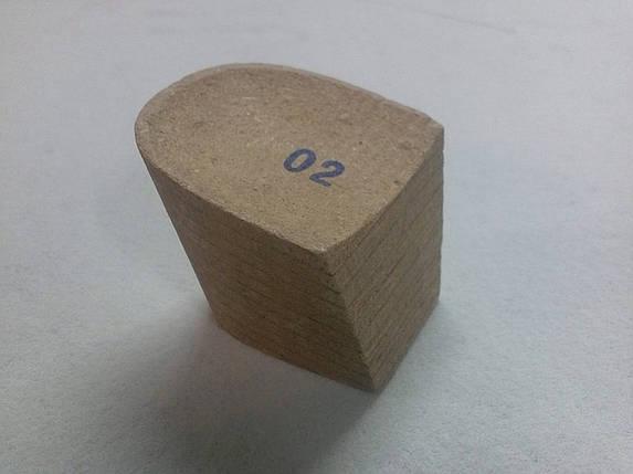 Каблук деревянный (мазанит) женский №02 (высота-5 мм) , фото 2