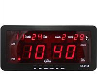 Часы электронные настольные с будильником термометром VST-2158