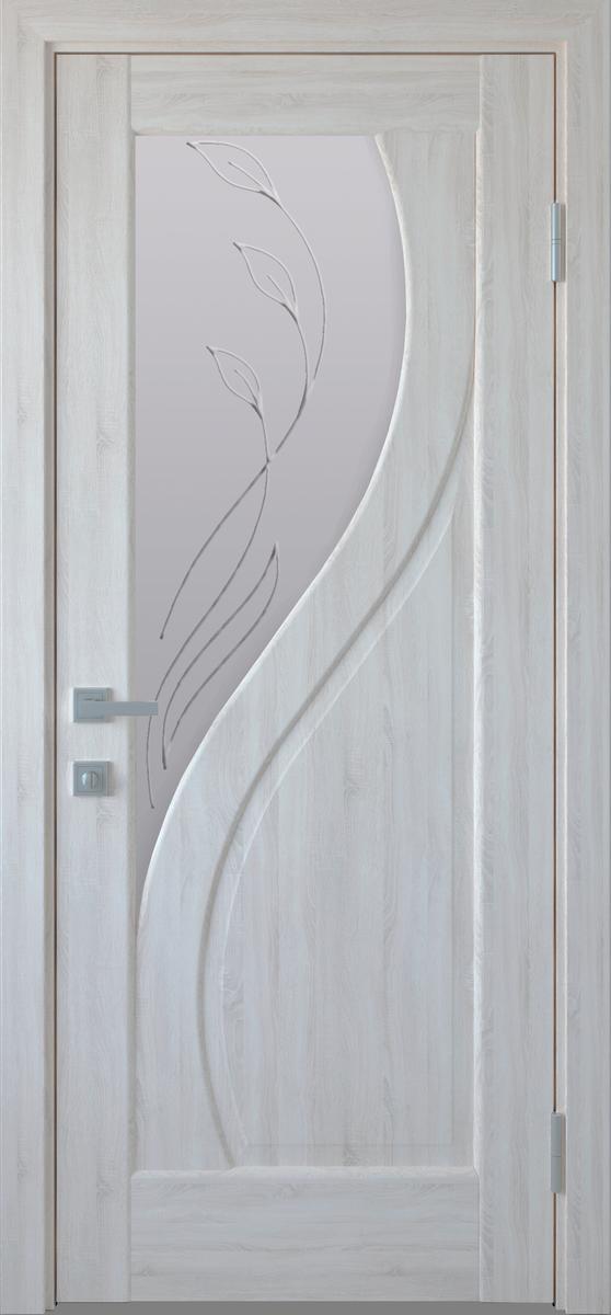 """Міжкімнатні двері """"Прима"""" G 900, колір ясний new з малюнком Р2 , ліві"""