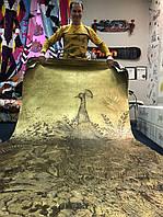 Золотое премиум 3D панно дизайнерское на стену Павлины Birds of Paradise 400 см х 330 см