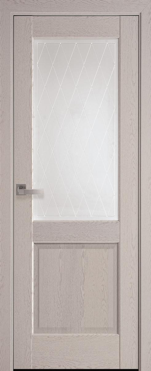"Міжкімнатні двері ""Епіка"" G 600, колір патина сіра з малюнком Р2"