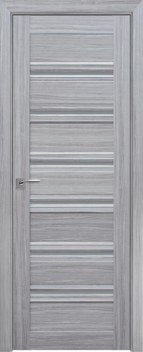 """Міжкімнатні двері """"Венеція C1"""" GRF 600, колір срібна перлина"""