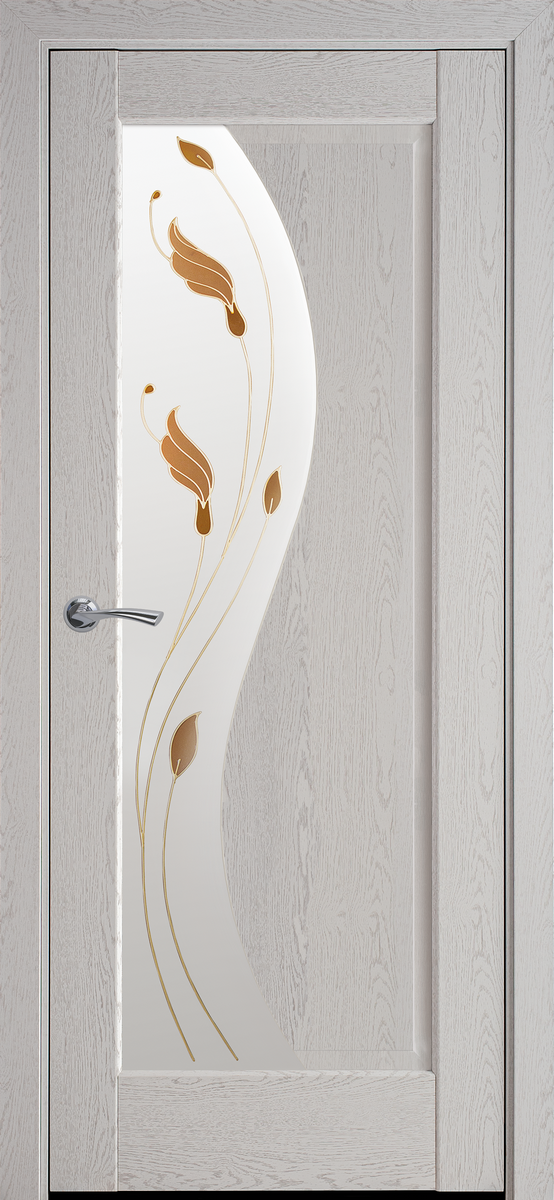 """Міжкімнатні двері """"Ескада"""" G 900, колір патина сіра з малюнком Р1"""