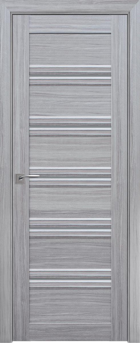 """Міжкімнатні двері """"Віченца C1"""" GRF 600, колір срібна перлина"""