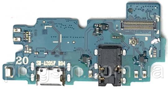 Разъем зарядки Samsung Galaxy A20 SM-A205F (с платкой) Original