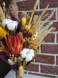 Букет из сухоцветов и стабилизированных цветов,, фото 3