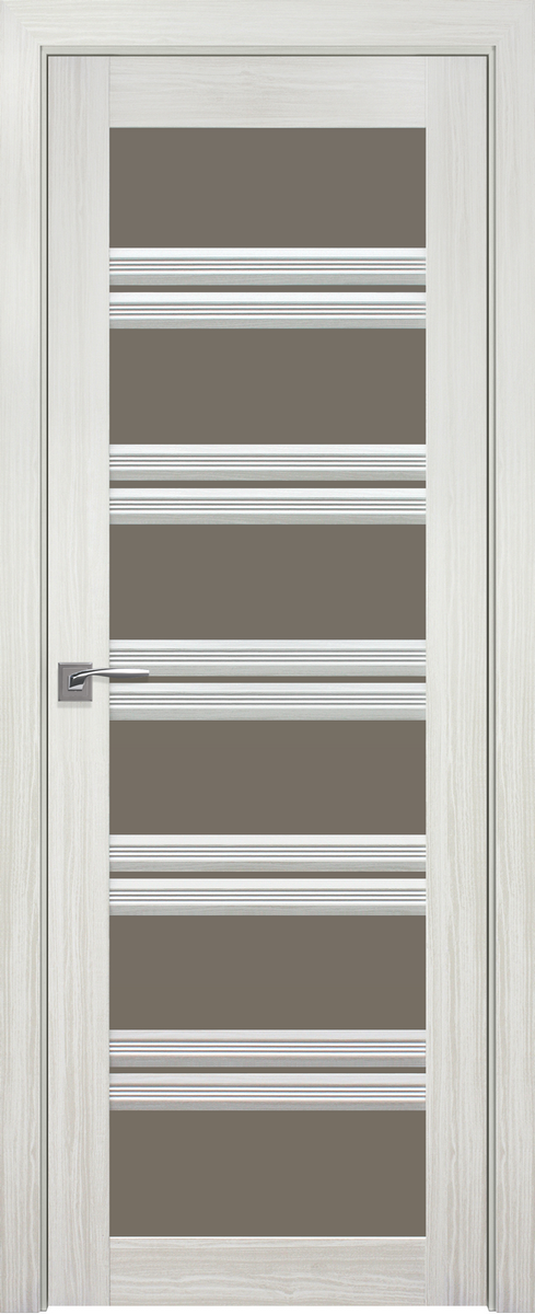 """Міжкімнатні двері """"Віченца C2"""" BR 600, колір перлина біла"""