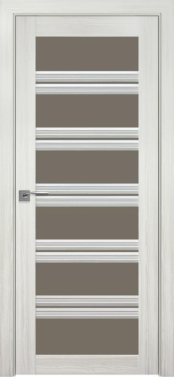 """Міжкімнатні двері """"Віченца C2"""" BR 800, колір біла перлина"""