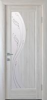 """Міжкімнатні двері """"Ескада"""" G 800, колір ясен new з малюнком Р2 , ліві"""
