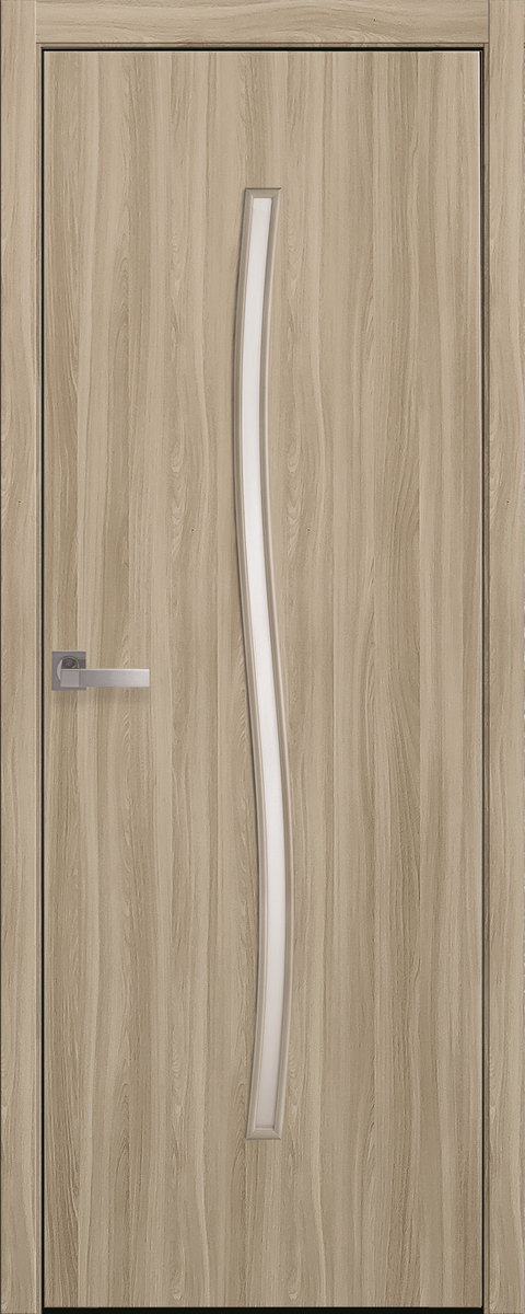 "Міжкімнатні двері ""Гармонія"" G 600, колір сандал , ліві"