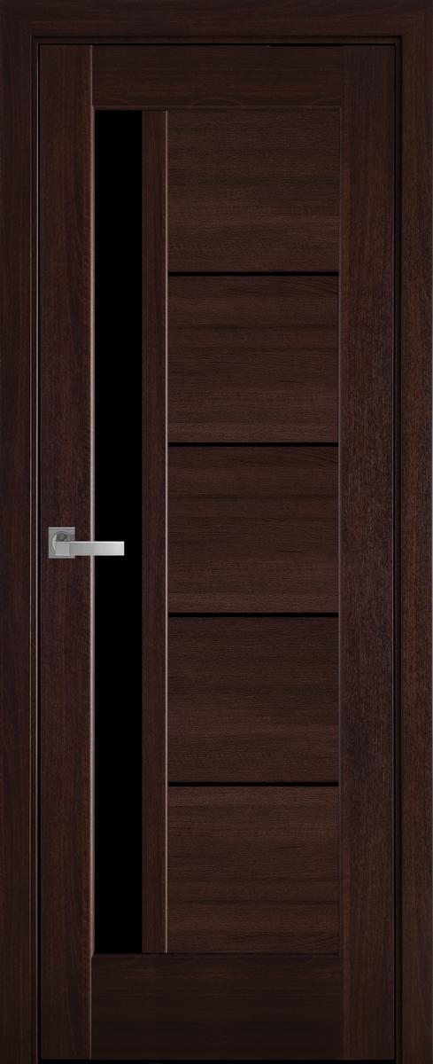 """Міжкімнатні двері """"Грета"""" BLK 600, колір каштан , ліві"""