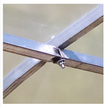 Теплиця «Титан» 3×8 з квадратної оцинкованої труби 1,5 мм з полікарбонатом Soton 6 мм, фото 4