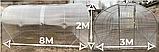 Теплиця «Титан» 3×8 з квадратної оцинкованої труби 1,5 мм з полікарбонатом Soton 6 мм, фото 2