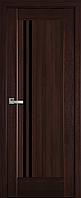 """Міжкімнатні двері """"Делла"""" BLK 700, колір каштан , ліві"""