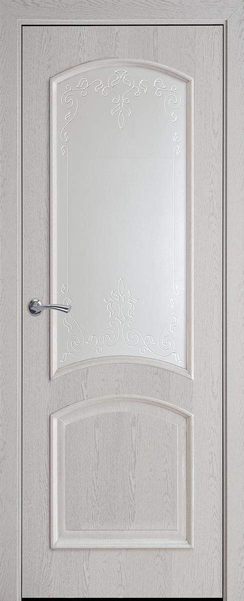 "Міжкімнатні двері ""Антре"" G 600, колір патина сіра з малюнком Р3"
