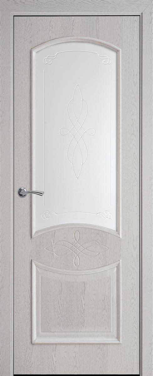"Міжкімнатні двері ""Донна"" G 600, колір патина сіра з малюнком Р1"