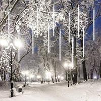 Гирлянда Метеоритный дождь «Тающие Сосульки» Светодиодная белый свет
