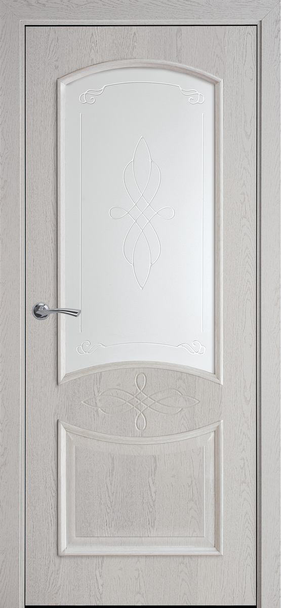 "Міжкімнатні двері ""Донна"" G 900, колір патина сіра з малюнком Р1"