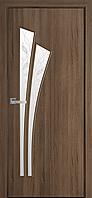 """Міжкімнатні двері """"Лілія"""" G 800, колір золота вільха з малюнком Р3 , ліві"""