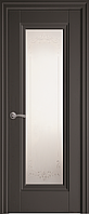 """Міжкімнатні двері """"Престиж"""" G 600, колір антрацит з малюнком Р2"""