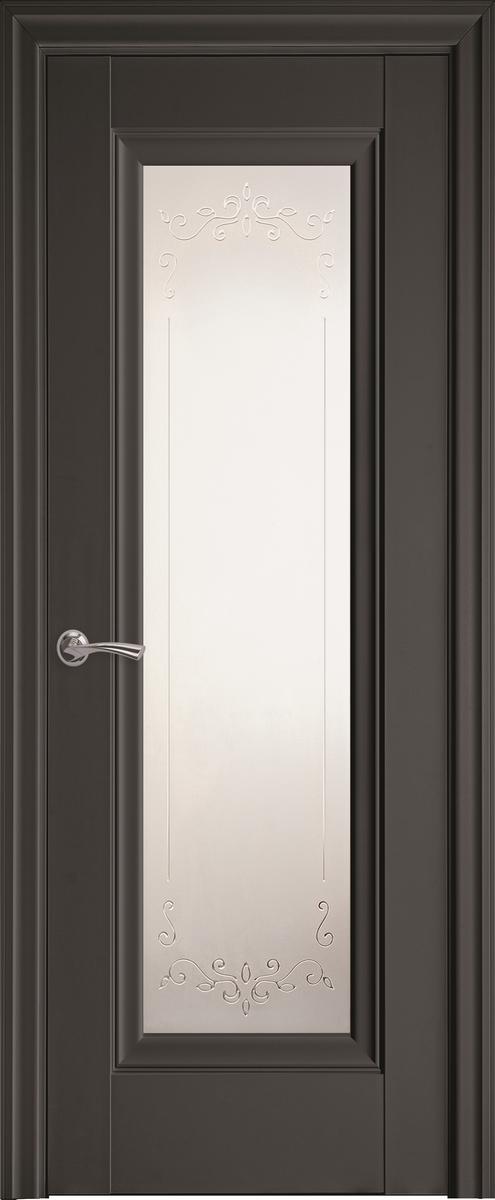 """Міжкімнатні двері """"Престиж"""" G 700, колір антрацит з малюнком Р2"""