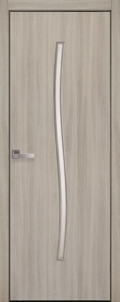 """Міжкімнатні двері """"Гармонія"""" G 600, колір ясний патина , ліві"""