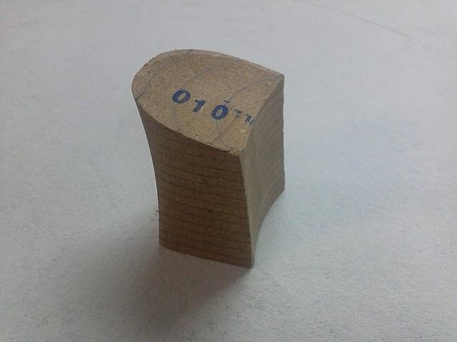 Каблук деревянный (мазанит) женский №010 (высота-6,5 мм)