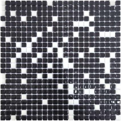 Aquaviva Мозаика стеклянная Aquaviva Black/White
