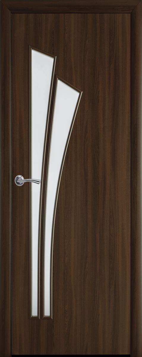 """Міжкімнатні двері """"Лілія"""" G 600, колір горіх 3D , ліві"""
