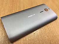 Крышка аккумулятора задняя панель Nokia 230 RM-1172, RM-1173 металл серая