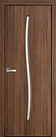 "Міжкімнатні двері ""Гармонія"" G 600, колір золота вільха , ліві"
