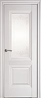 """Міжкімнатні двері """"Імідж"""" G 600, колір білий матовий з малюнком Р2"""