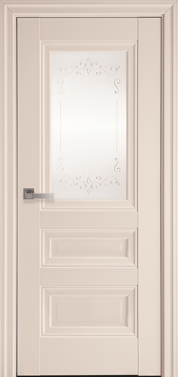 "Міжкімнатні двері ""Статус"" G 800, колір магнолія з малюнком Р2"