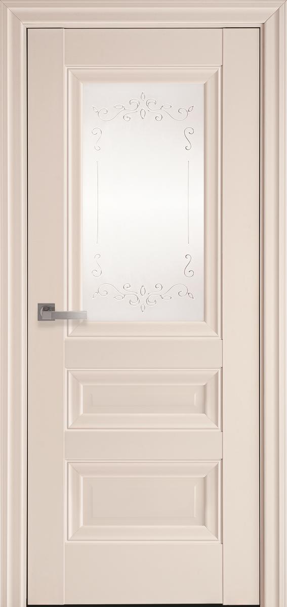 "Міжкімнатні двері ""Статус"" G 900, колір магнолія з малюнком Р2"