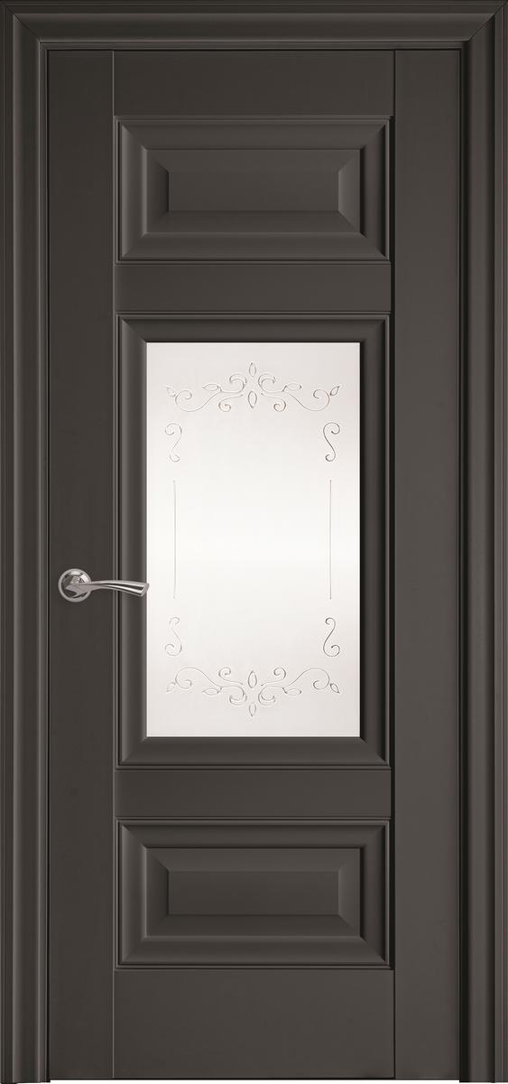 "Міжкімнатні двері ""Шарм"" G 900, колір антрацит з малюнком Р2"