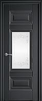 "Міжкімнатні двері ""Шарм"" G + ML2 600, колір антрацит з малюнком Р2"