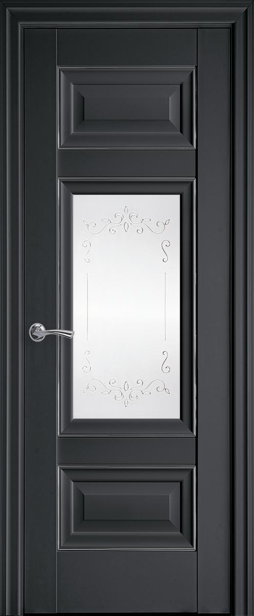 "Міжкімнатні двері ""Шарм"" G + ML2 700, колір антрацит з малюнком Р2"