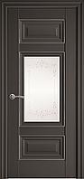 "Міжкімнатні двері ""Шарм"" G + ML2 800, колір антрацит з малюнком Р2"