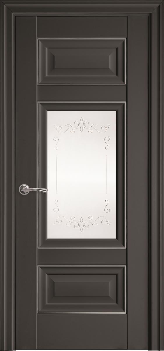 "Міжкімнатні двері ""Шарм"" G + ML2 900, колір антрацит з малюнком Р2"