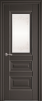"""Міжкімнатні двері """"Статус"""" G + ML2 600, колір антрацит з малюнком Р2"""