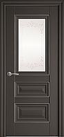 """Міжкімнатні двері """"Статус"""" G + ML2 800, колір антрацит з малюнком Р2"""