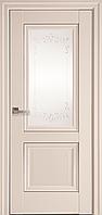 """Міжкімнатні двері """"Імідж"""" G + ML2 800, колір магнолія з малюнком Р2"""