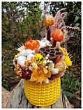 Букет из сухоцветов и стабилизированных цветов, фото 3