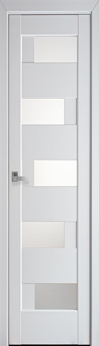 """Міжкімнатні двері """"Піана"""" G 400, колір білий матовий , ліві"""