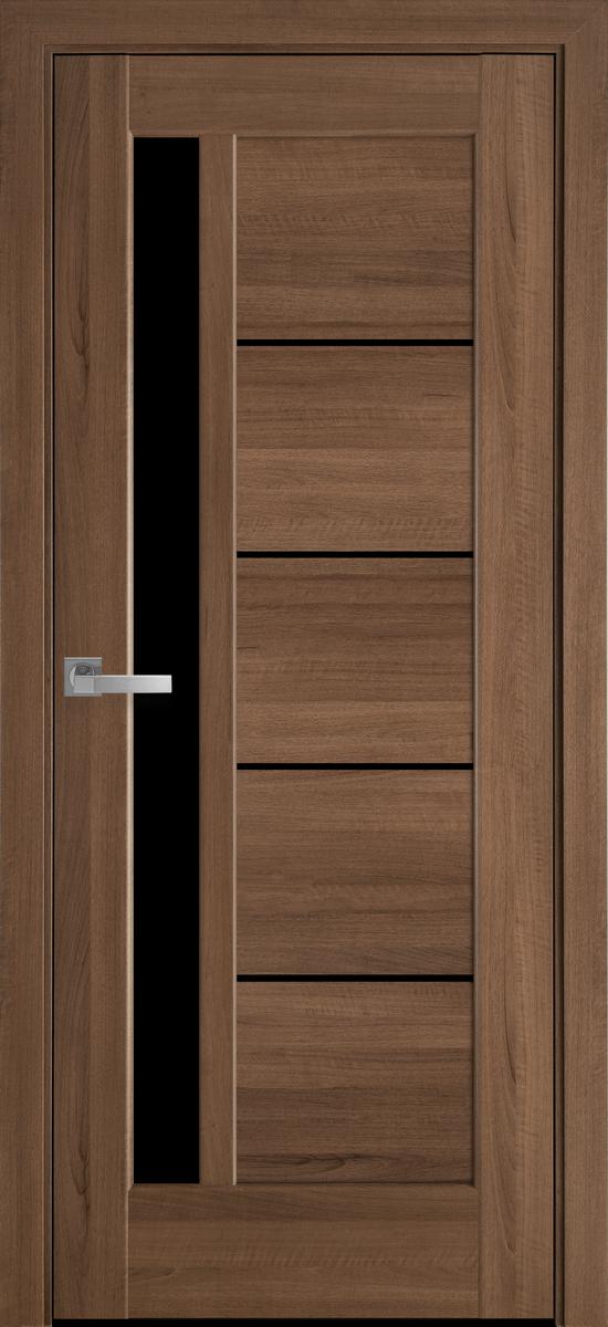 "Міжкімнатні двері ""Грета"" BLK 900, колір золота вільха , ліві"