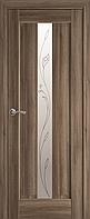 """Міжкімнатні двері """"Прем'єра"""" G 600, колір золотий дуб з малюнком Р2 , ліві"""