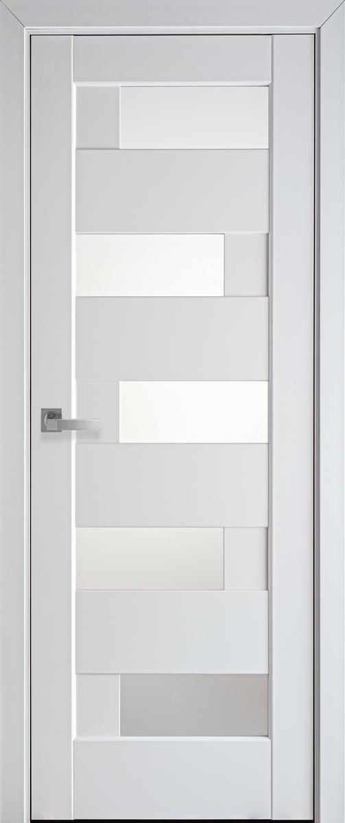 """Міжкімнатні двері """"Піана"""" G 600, колір білий матовий , ліві"""