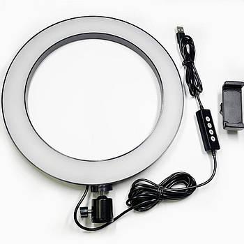 Светодиодные лампы кольцо 26 см с держателем для смартфона БЕЗ ШТАТИВА