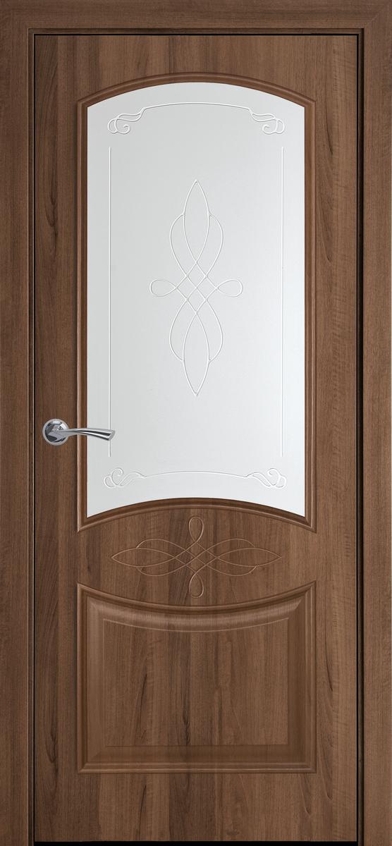 """Міжкімнатні двері """"Донна"""" G 900, колір вільха золота з малюнком Р1 , ліві"""