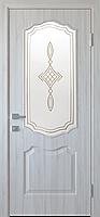"""Міжкімнатні двері """"Вензель"""" G 800, колір ясен new з малюнком Р1"""